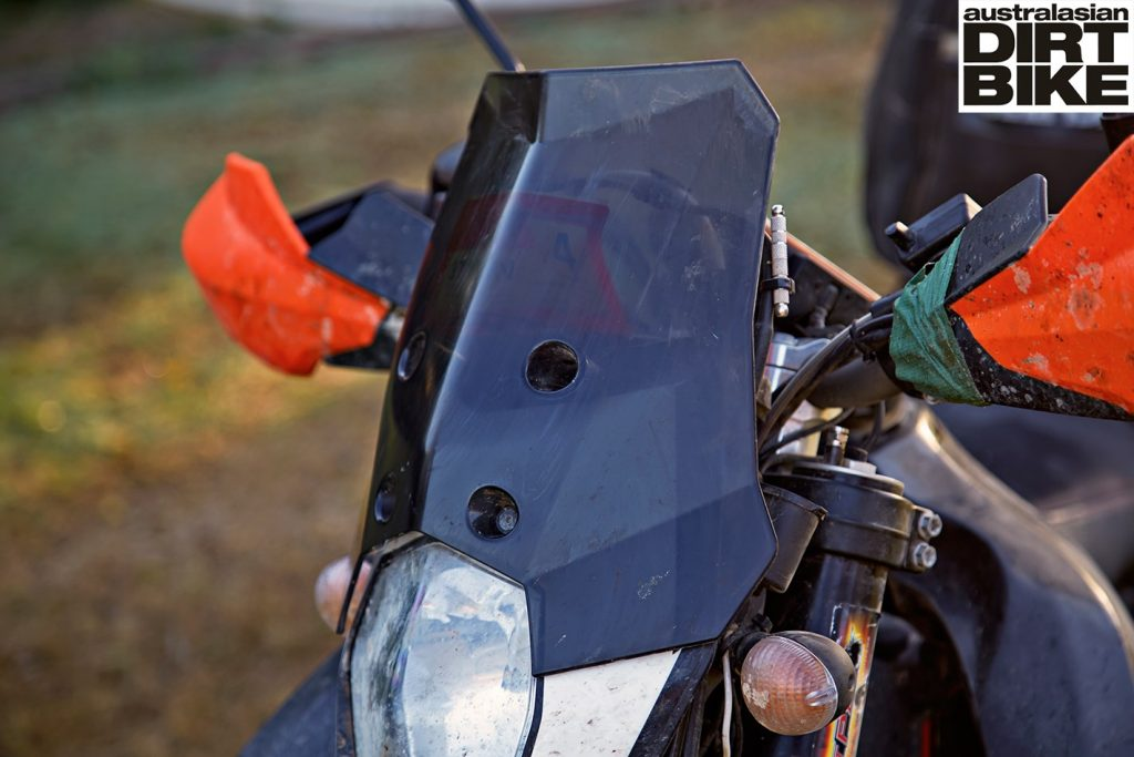 KTM 690 Enduro R wind shield