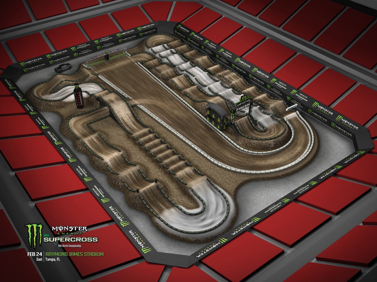 2018 Ama Supercross Track Maps Australasian Dirt Bike