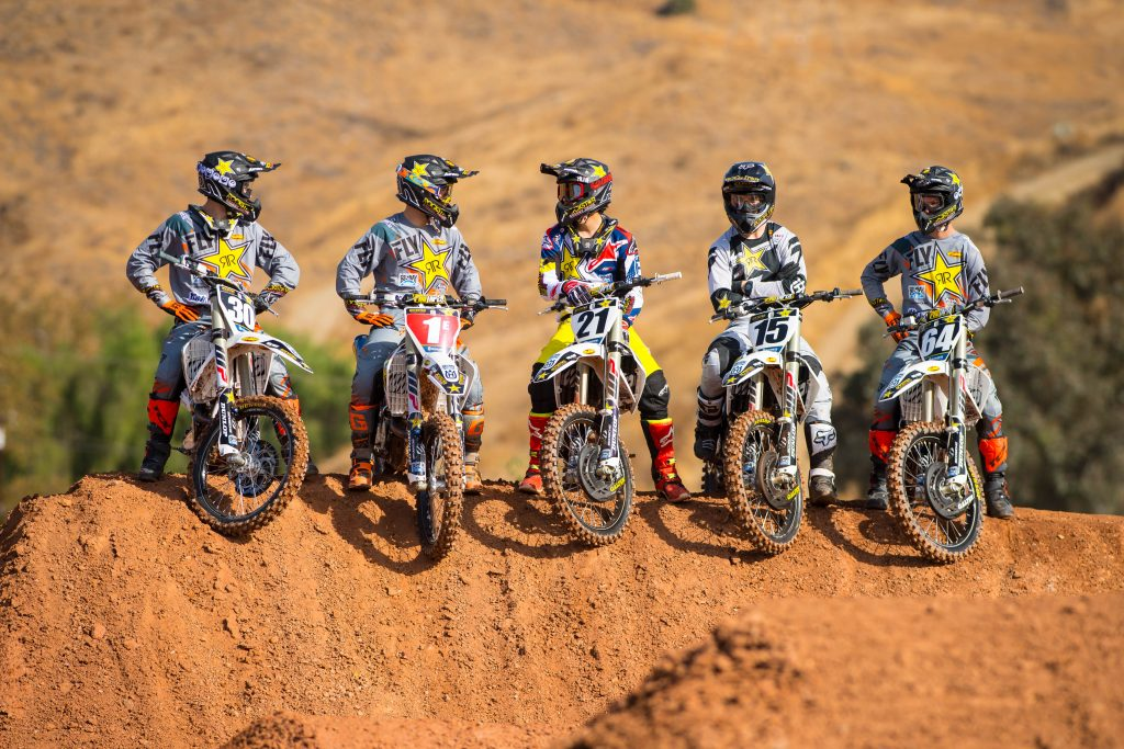 The Rockstar Energy Husqvarna Factory Racing 2018 AMA SuperCross Team