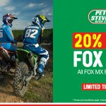 20% off all Fox Gear at Peter Stevens Motorcycles