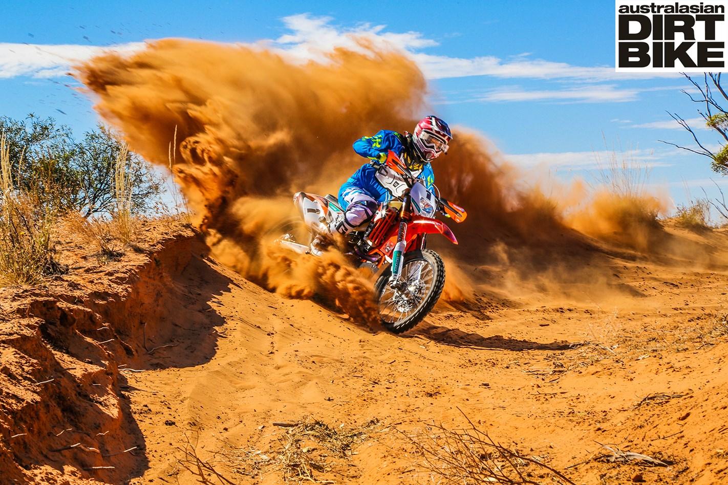 toby prices ktm  exc desert bike australasian dirt bike magazine