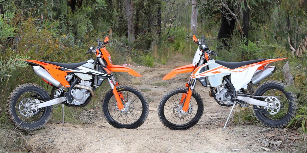 KTM 350 XC-F vs KTM 350 EXC-F - Australasian Dirt Bike Magazine