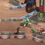 VIDEO: Adam Cianciarulo run over by Cooper Webb