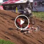 Jeffrey Herlings crash MXGP of Latvia timed practice